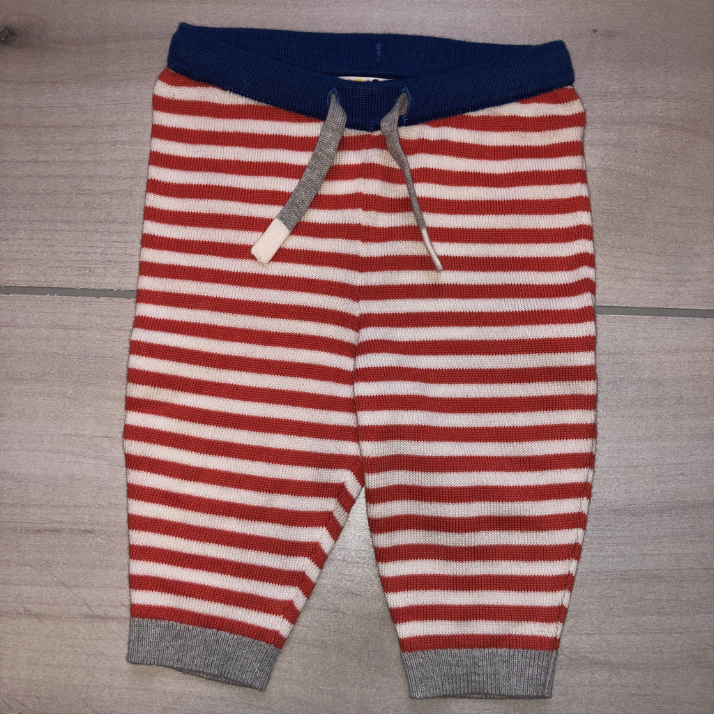 NEW Baby Boden Knit Red White Striped Pants - Sweet Pea & Teddy