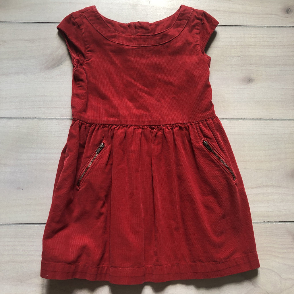 Gap Kids Red Corduroy Zipper Pocket Dress - Sweet Pea & Teddy