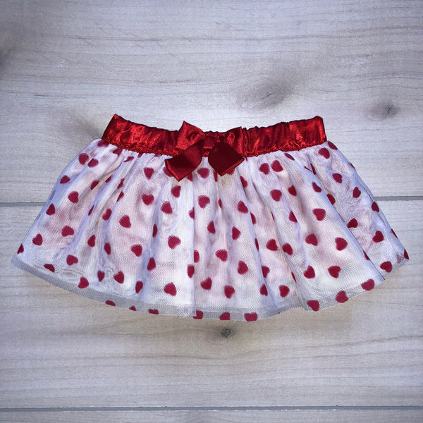 Koala Kids Heart Pattern Tulle Skirt