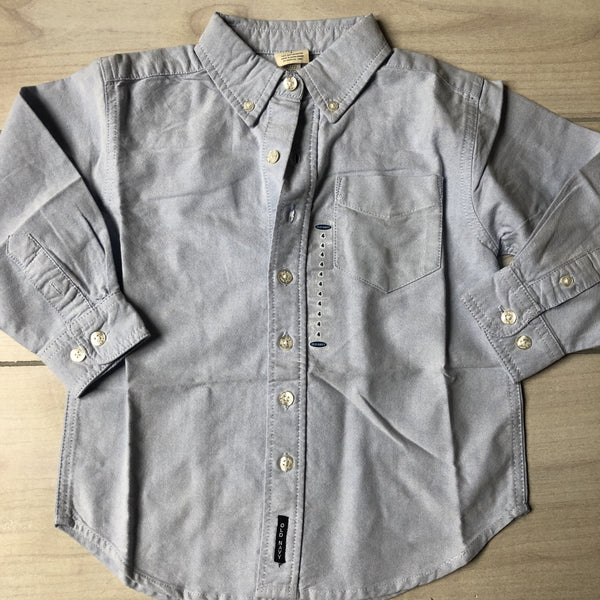 NEW Old Navy Light Chambray Cotton Button Down Shirt