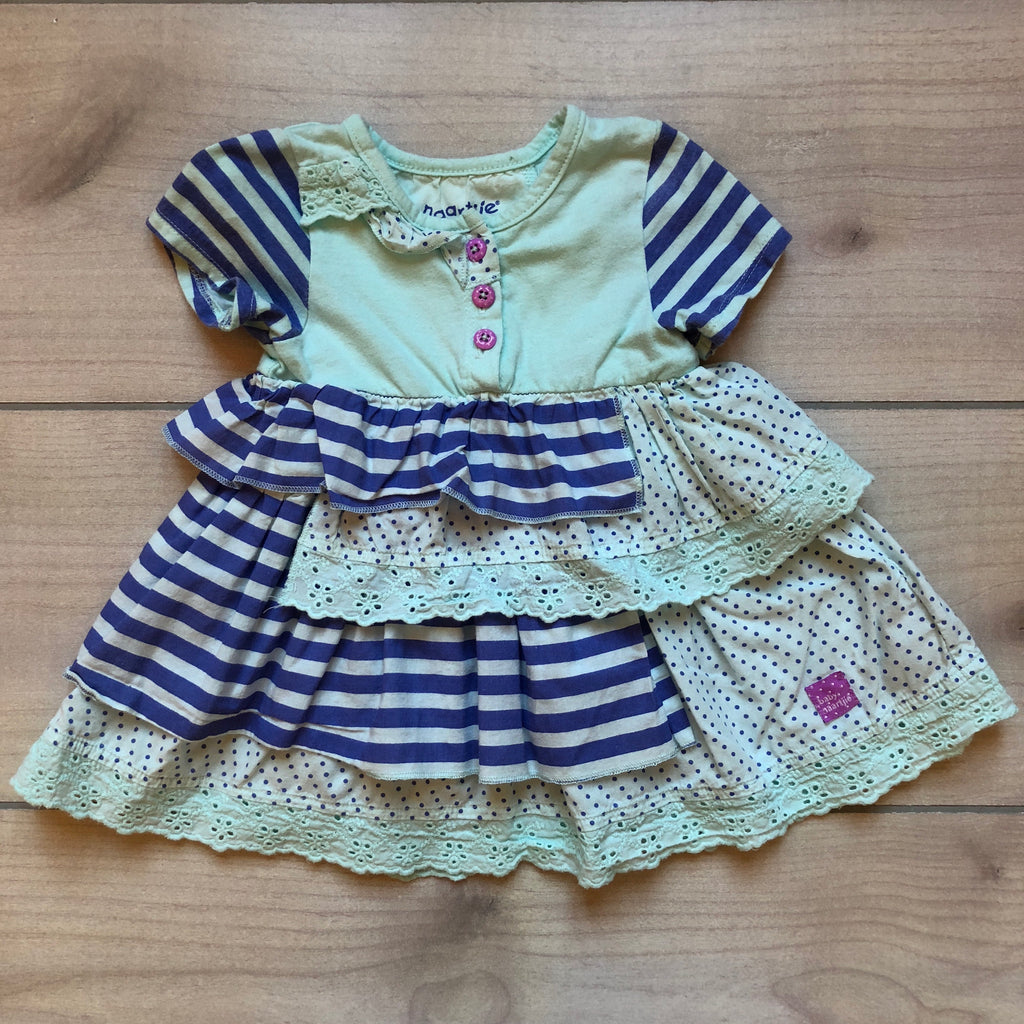 Naartijie Baby Aqua Ruffle Dress