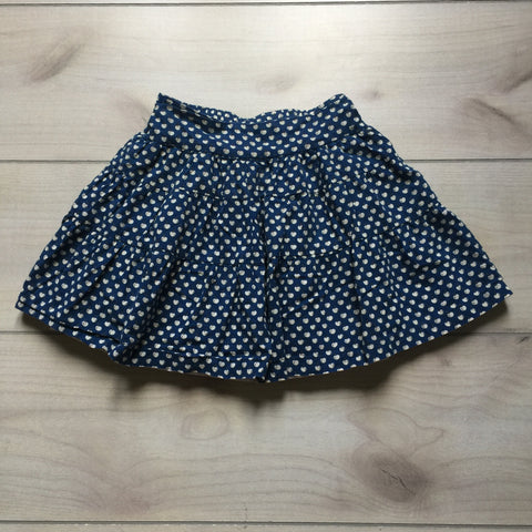 Busy Bees Blue Cherry Pattern Skirt