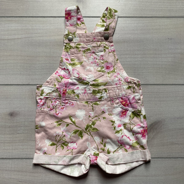 Children's Place Pink Floral Overall - Sweet Pea & Teddy