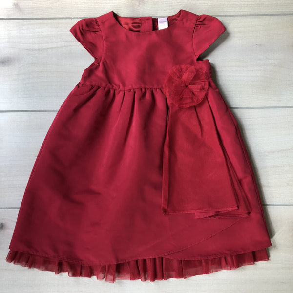 Baby Gap Red Polyester Tulle Underlay Dress