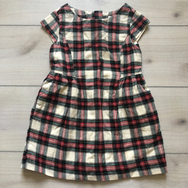 Gap Kids Red & Green Flannel Plaid Dress