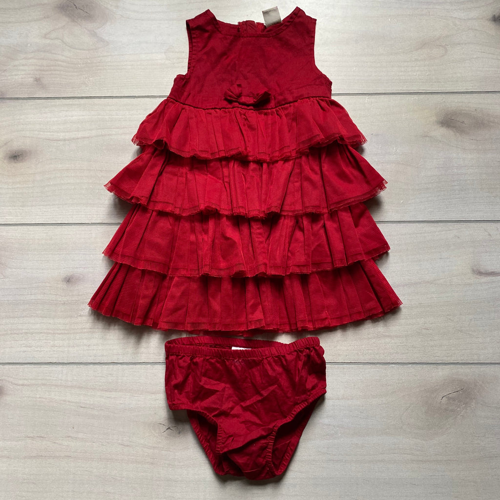 Old Navy Red Tulle Ruffled Front Dress & Bloomer