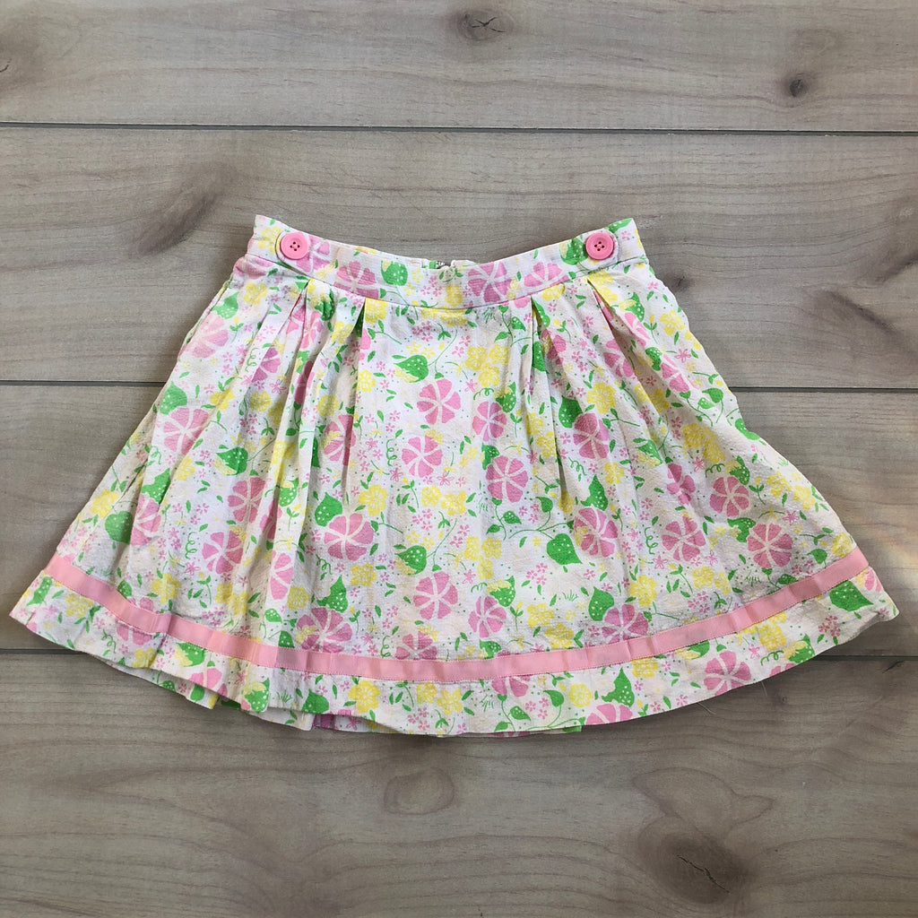 Lilly Pulitzer Pink & Yellow Floral Skirt