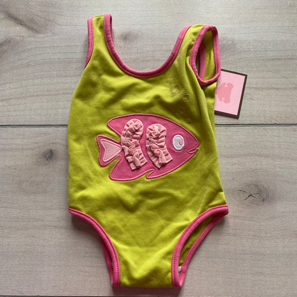 NEW Baby Gap Green Fishy One Piece Swimsuit