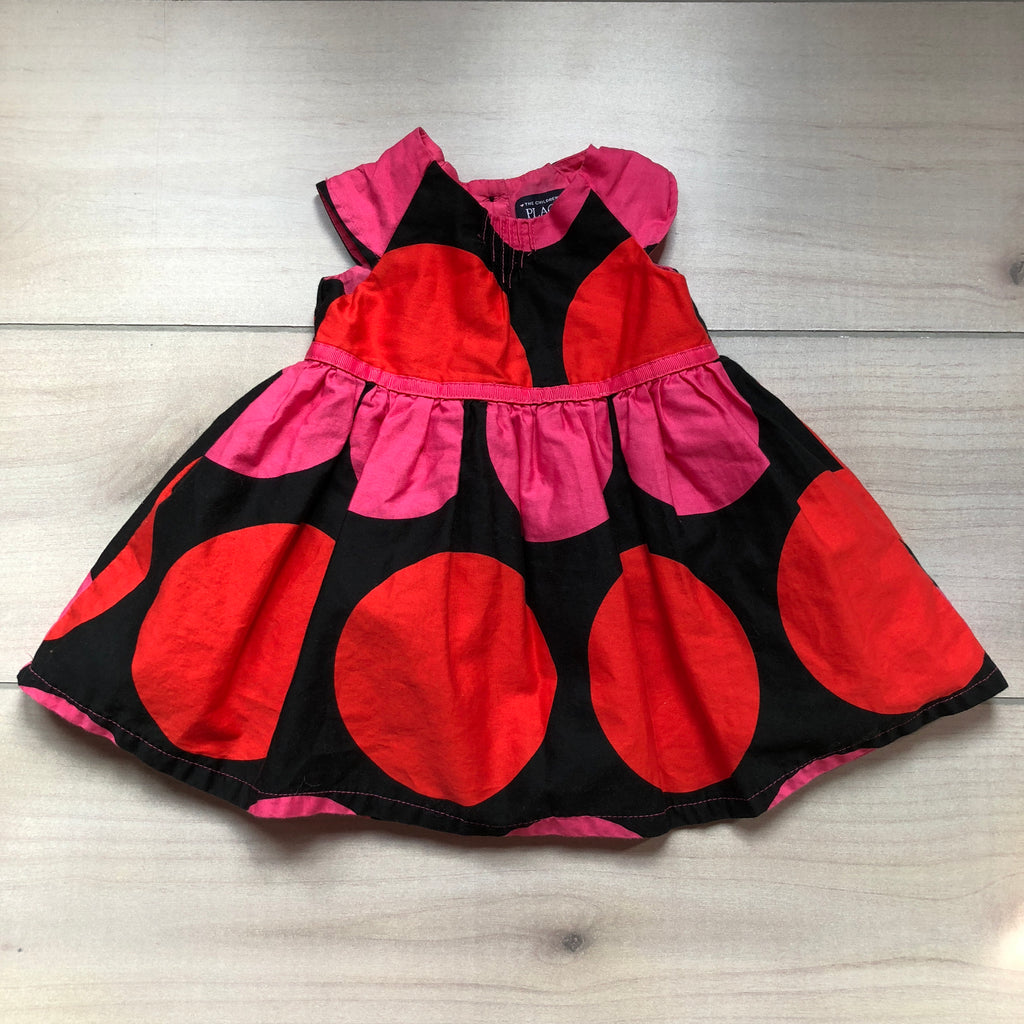 Children's Place Black Red & Pink Dot Dress