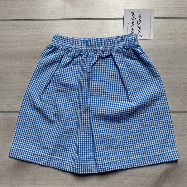 NEW Boutique Brand Bright Blue Gingham Seersucker Shorts