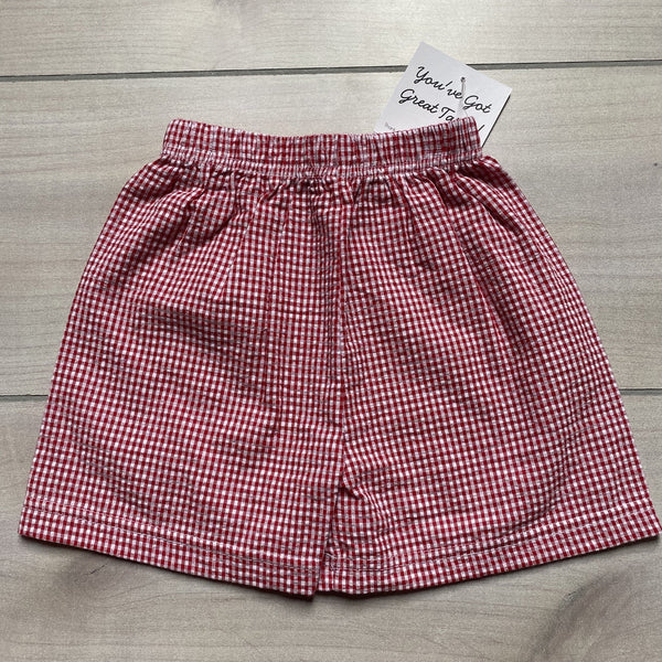NEW Boutique Brand Red Gingham Seersucker Shorts
