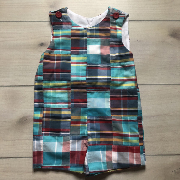NEW Kelly's Kids Plaid Madras Romper