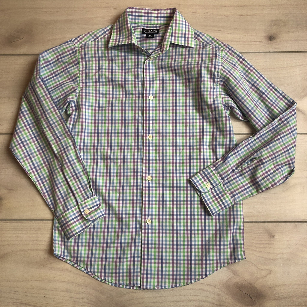 Chaps Pastel Checkered Button Down Shirt - Sweet Pea & Teddy