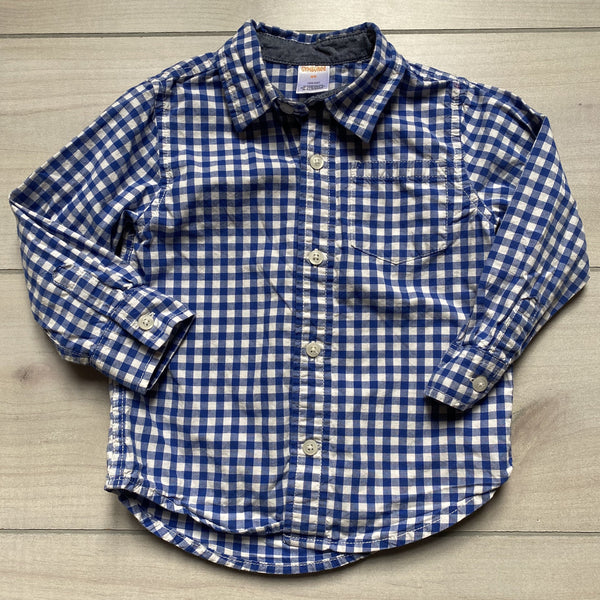 Gymboree Blue GIngham Button Down Shirt - Sweet Pea & Teddy