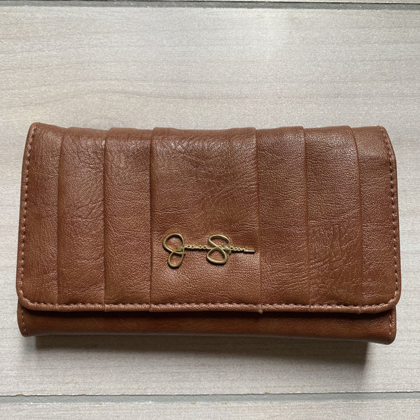 NEW Jessica Simpson Brown Snap Wallet