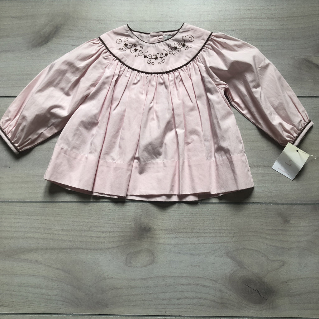 NEW Petit Ami Pink & Brown Smocked Dress