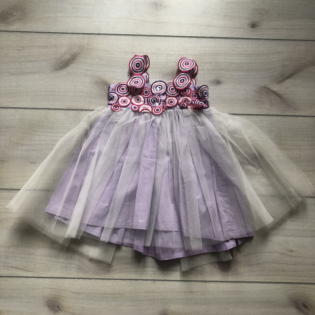 Halabaloo Orchid & Pink Circle Top Tulle Dress - Sweet Pea & Teddy