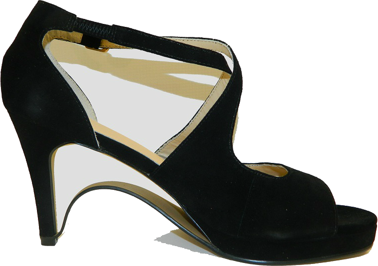 NEW!! Ultra-Comfort Suede High Heels with Stabilization - Black Diamond NOW AVAILABLE!!