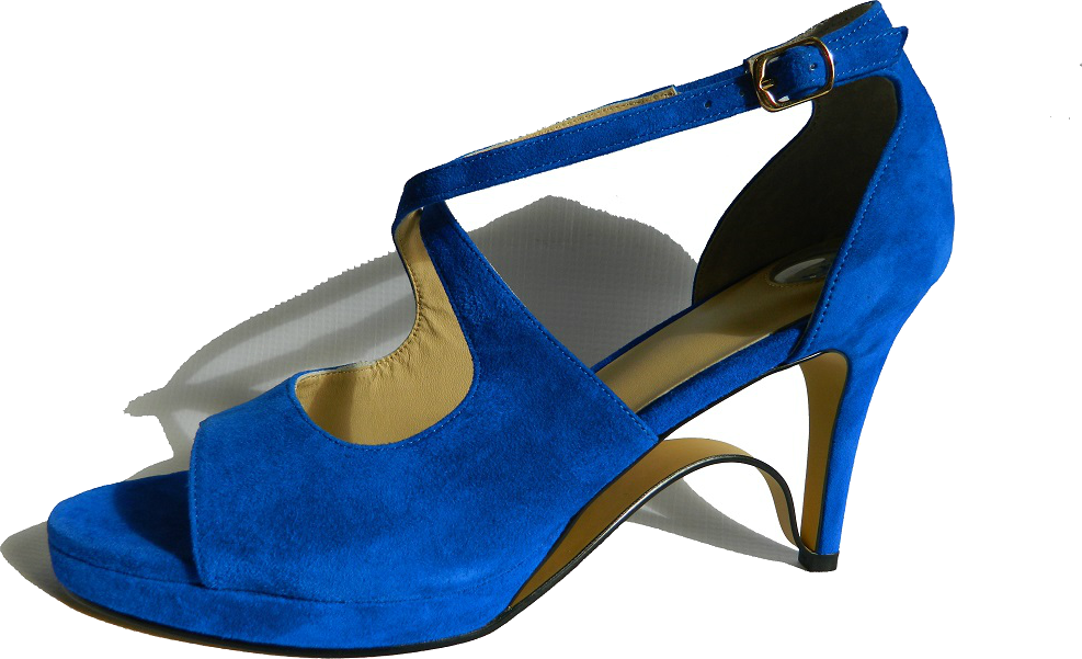 NEW!! Ultra-Comfort Suede High Heels with Stabilization - Blue Sapphire NOW AVAILABLE!!