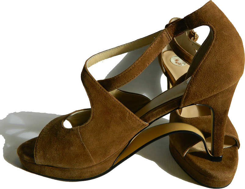 NEW!! Ultra-Comfort Suede High Heels with Stabilization - Brown Topaz NOW AVAILABLE!!