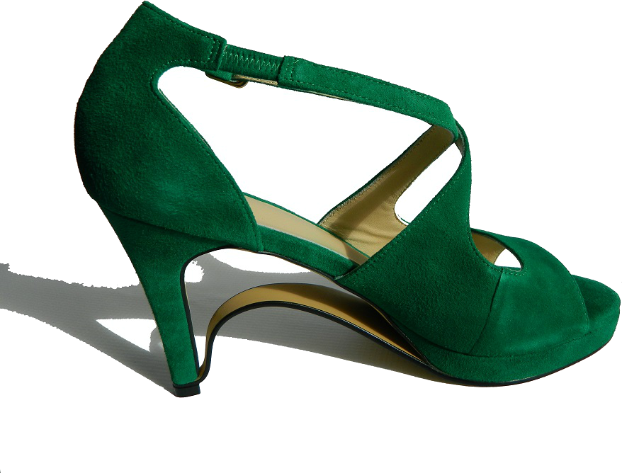 NEW!! Ultra-Comfort Suede High Heels with Stabilization - Emerald Green NOW AVAILABLE!!