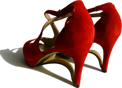 NEW!! Ultra-Comfort Suede High Heels with Stabilization - Ruby Red NOW AVAILABLE!!