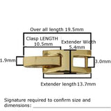Fold Over H Clasp Watch Band and Bracelet Extenders 2-12mm 100 Pcs