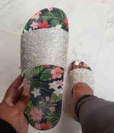 Floral Bling Slide - Cape Robbin