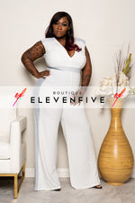 "Plus Size ""Lady in My Life"" Jumpsuit - Ivory"