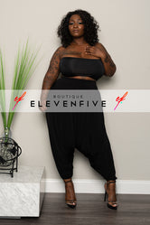 Plus Size Harem Pants - Black