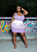 Plus Size Basic Tank Mini Dress - Lavender