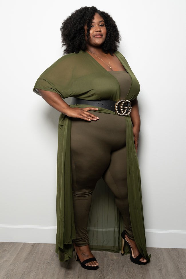 "Plus Size ""Mood""  Tube Jumper - Olive"