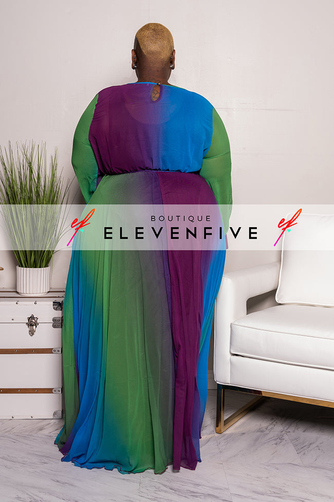 "Plus Size ""Purple Reign"" Ombre Maxi Dress"