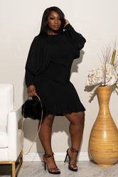 "Plus Size ""XOXO"" Little Black Dress"