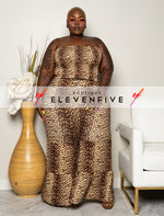 "Plus Size ""Jungle Boogie"" 2 Piece Bell Bottom Set - Leopard Print"