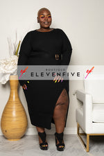 "Plus Size ""Warm Me Up"" Ribbed Sweater Dress - Black"