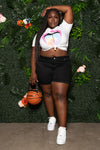 "Plus Size ""Kranky"" Shorts - Black"