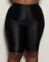 "Plus Size ""Disco Dreams"" Biker Shorts - Black"