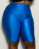 "Plus Size ""Disco Dreams"" Biker Shorts - Blue"