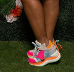 "Anthony Wang ""RAINSINS 03"" Platform Sneaker - Pink Green Orange White"