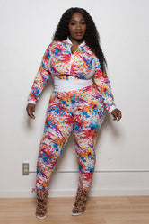 "Plus Size ""Coiya"" 2 Piece Track Suit"