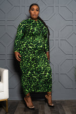 "Plus Size ""Fly Girl"" Hooded Maxi Dress - Black"