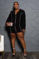 "Plus Size ""Trail Blazin"" Blazer Dress - Black"