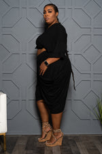 "Plus Size ""Lovin the Skin I'm In"" Harem Set - Black"