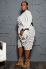 "Plus Size ""Lovin the Skin I'm In"" Harem Set - Heather Gray"