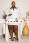 "Plus Size ""Applying Pressure"" Duster Mirror Set - White"