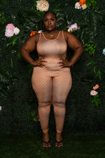 """Silky"" Double G Jumpsuit - Brown"