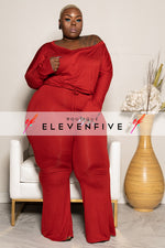 "Plus Size ""Sassy"" Off Shouder Jumpsuit - Black"