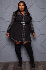 "Plus Size ""Cowgirl Princess"" Western Style Dress - Black"