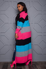 "Plus Size ""Tik Tok"" Oversized Sweater = Multi Blue Black Fuchsia Gray"